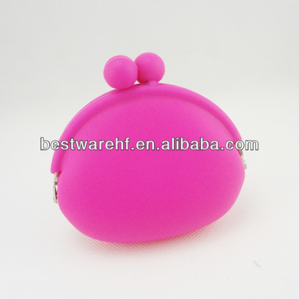 Soft Silicone Coin Purses Wallet Bag Lovely Candy Color Girl Birthday Christmas Gift