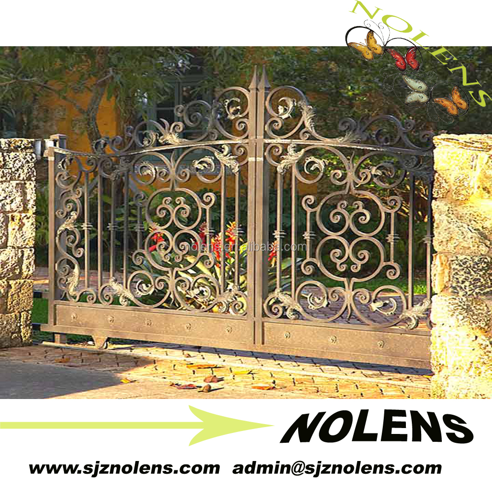 entrance steel gate design/The Huge galvanized farm gates by iron