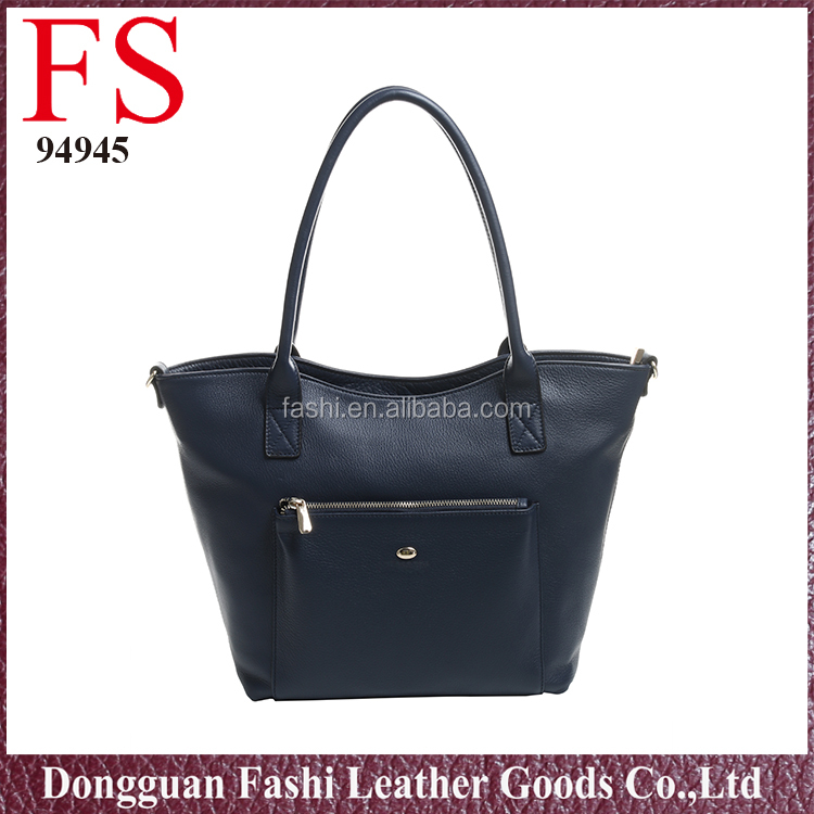 Dongguan factory manufacture black ladies handbag leather women bag genuine