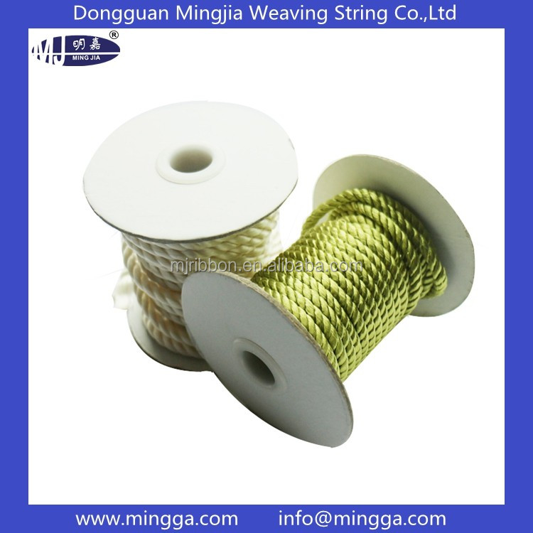 Customized shiny polyester twisted cord for sale