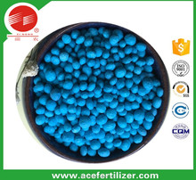 blue granular NPK12-12-17 compound fertilizer nitrate base