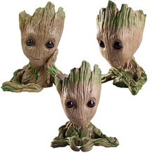 Stock Tree Man Model Toy Hand up Pen Flower Pot Guardians of the Galaxy 2 Action Figure Baby Groot