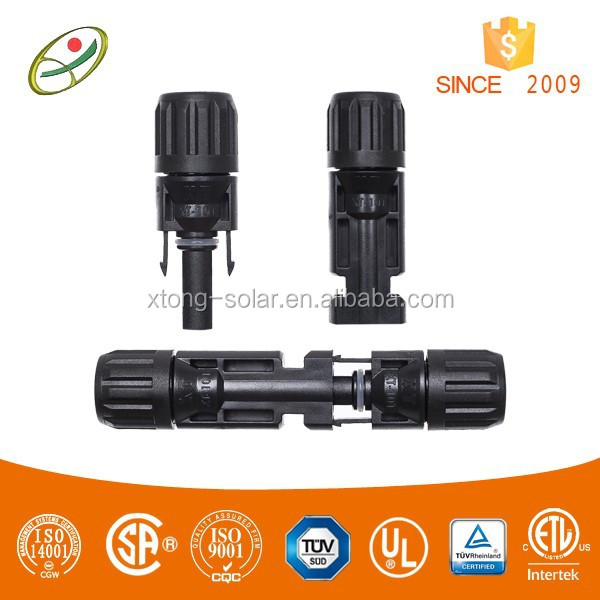 hot sale TUV and UL approved mc4 compatible connector for photovoltaic systems