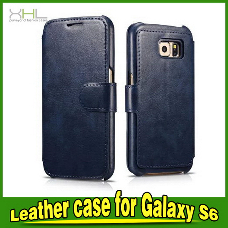 2016 manufacture for samsung s5 s6 leather flip case