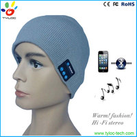 Wireless Bluetooth Headphone Knitted Beard Beanie Hat with Built in Headphones