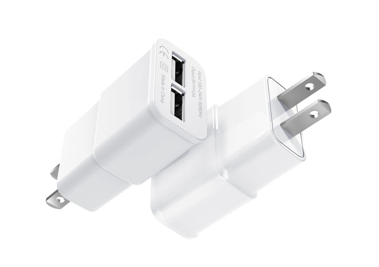 Top selling Dual Ports usb wall charger travel universal power adapter For Mobile Phone/tablet