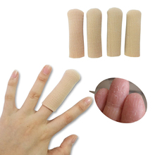 Open Toe Tubes Fabric Finger Guard Gel Lined Sleeve Protectors For Corns Blisters Hammertoes
