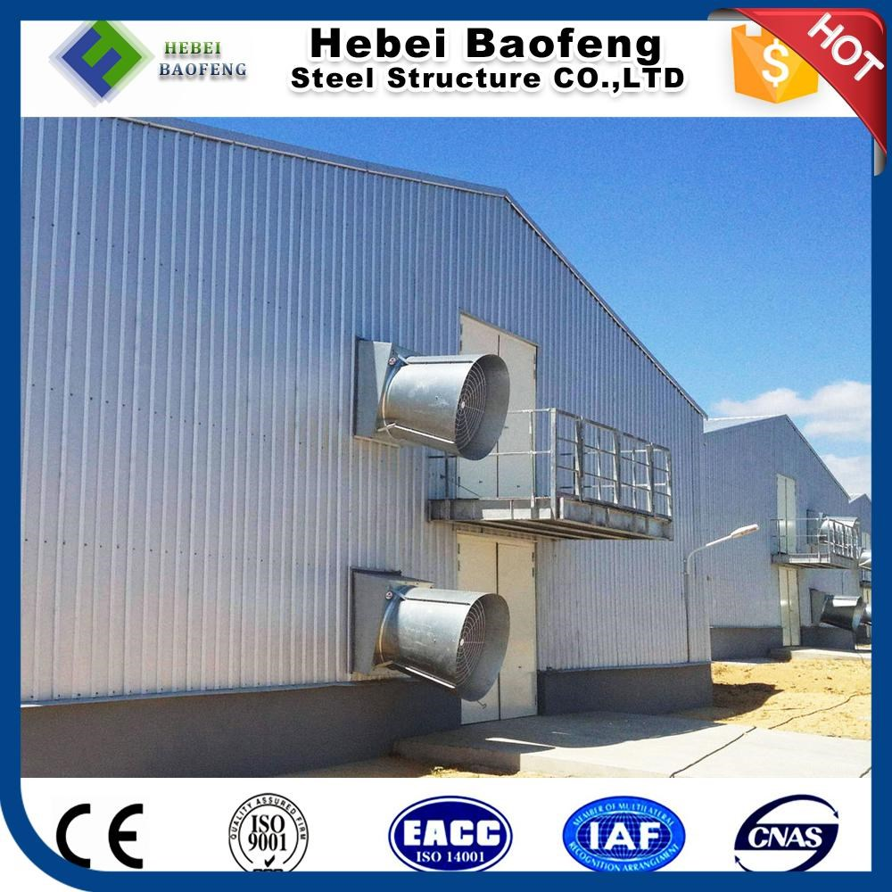 poultry farm house design curved steel building for chicken broilers