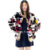 CX-G-A-36 Colorful Fashion Winter Women Real Mink Fur Coat