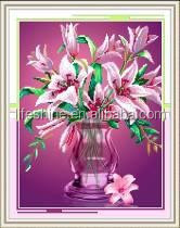 """Pink Beauty"" New 5D round crystal diy diamond painting"