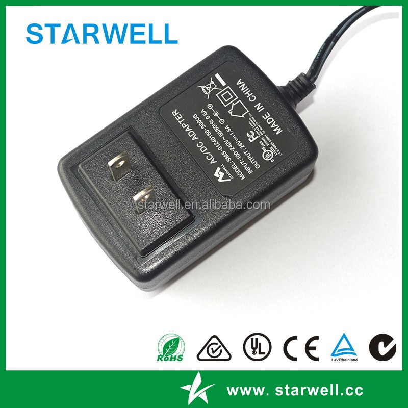 24w 12v 2a power line adapter for America