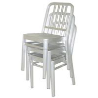 Stackable Elegant Aluminium Navy Furniture Chair