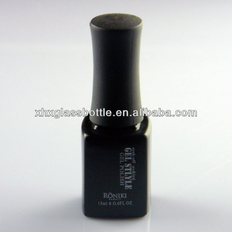 Nail Art Top Coat Gel Polish Glass Bottle Black