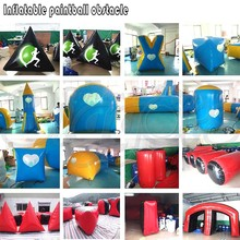 Cheap Inflatable Paintball Obstacle Barrier Sets for Team Competition