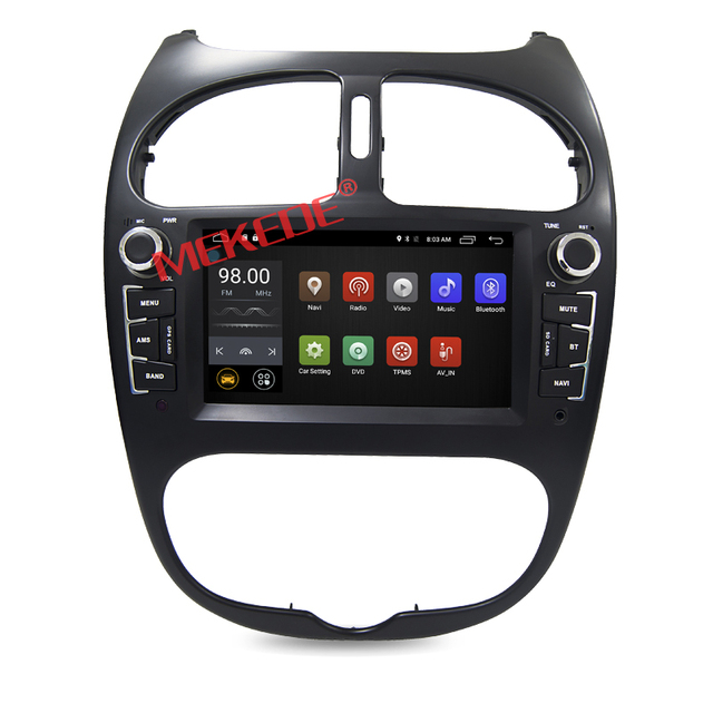 Android Car Multimedia Stereo For Peugeot 206 Radio CD DVD Player GPS Navigation Audio Video