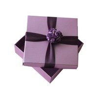 2 Piece Sturdy Paper Mini gift Boxes with Ribbon Design
