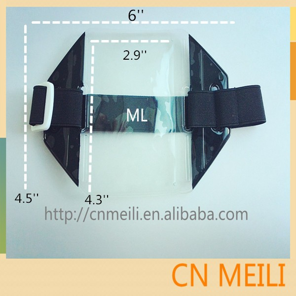 Hot -selling pvc armband id card badge holder