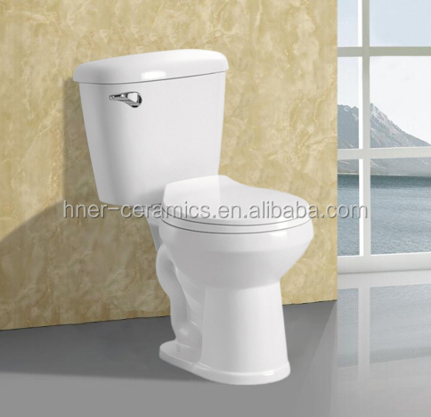 Home decoration bathroom two piece toilet,porcelain toilet white color,white wc two piece ceramic sanitary toilet in bathroom