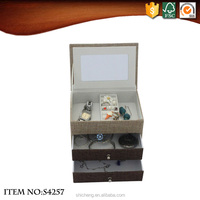New Style Embroidered Animal Drawer Jewelry Box