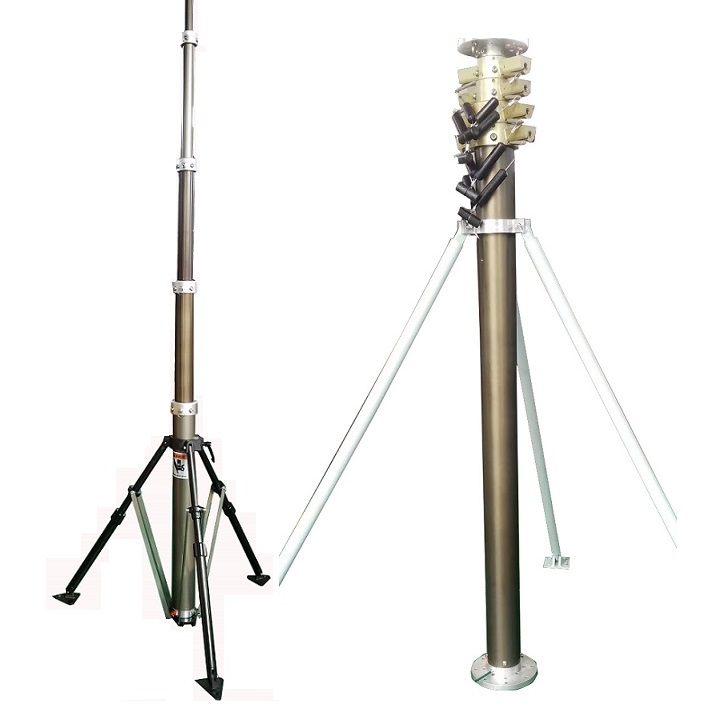 4m steel high telescopic mast for trees pest control