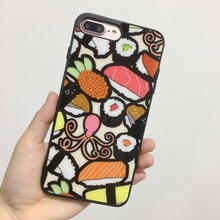 Hot Japanese Sushi Phone Case For Apple IPhone X 8Plus 8 7Plus 7 6SPlus 6s 6Plus 6 Se 5s 5 Soft Silicone Cover Shell TPU+PC