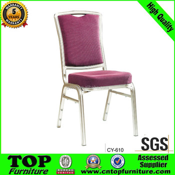 Newest modern aluminum frame used hotel banquet chair