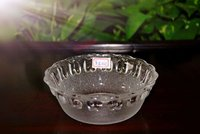 Clear Glass Bowl with Apple Pattern