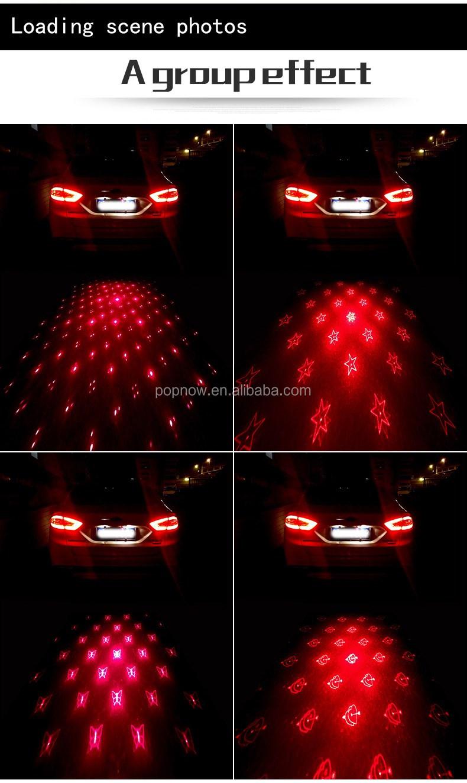 Safe Auto Rear Laser Fog Light Avoid Accident Car Laser Light Show - Car laser light show