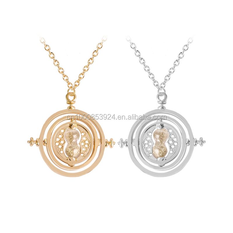 HP Movie Jewelry Mini Small size Time Turner Pendant necklace Hourglass Charm