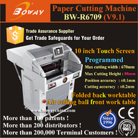 10'' Touch screen Hydraulic PLC 670mm 1000 Sheets office depot paper cutter