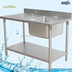 304 Stainless Steel Double Kitchen Sinks Guangzhou Manufacturer/Franke Kitchen Stainless Steel Sink with Table
