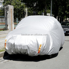 100% Polyester UV Proof Folding Car Covers Outdoor Protective Covers