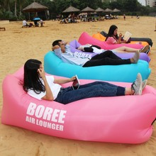 china supplier inflatable sofa air sleeping bag sleeping pod inflatable laybag air bed banana sleeping soft air lounge sofa bed