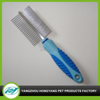 pet products metal stainless steel pet grooming comb