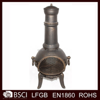Outdoor Wood Burning Cast Iron Chiminea---CM128