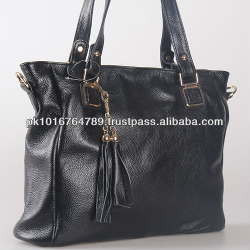 100% Genuine Black Leather Handbags Latest Styles 2014