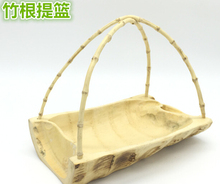 bamboo root crafts natural bamboo basket