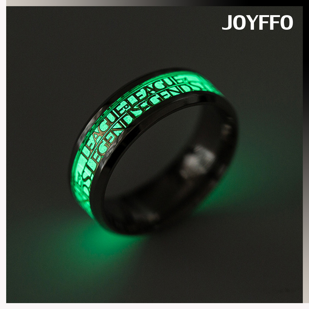 alli express jewellery 316L Stainless Steel Bulk Wholesale Fluorescence Mens Stainless Steel Designer Finger Rings