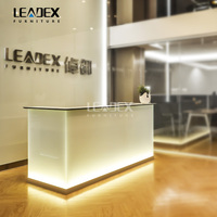 2016 Hot Sale Customized Modern Office Reception Office Counter Design