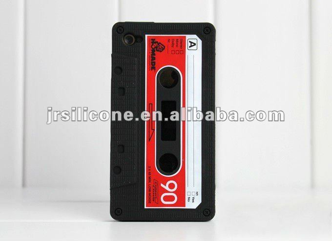 Funny novelty silicone case for iphone 4,custom silicone skin