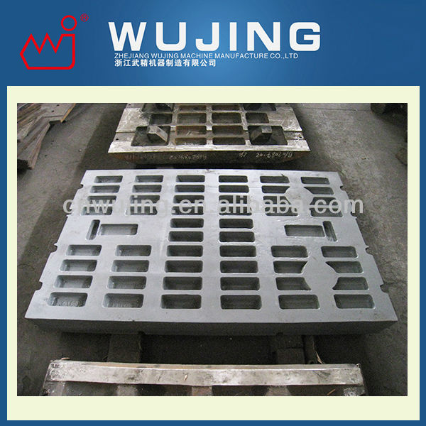 Wear Resistant High Manganese Steel Casting Jaw Crusher Cheek Plate