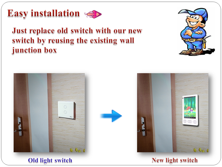 7 Inch TFT android touch screen camera smart home smart wifi light switch