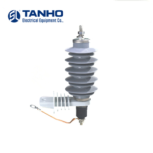 YH10W-15 10ka surge arrester high quality silicone rubber power housed lighting arrester