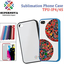 Soft sublimation silicone case for iphone 4 with aluminum plate