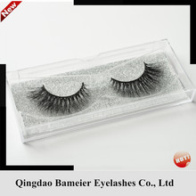 100% 3D mink fur false eyelashes high quality custom retail packaging