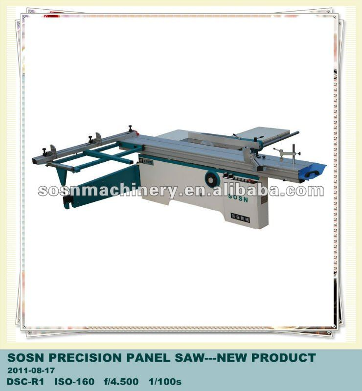 Plywood machine: panel saw liner structure sliding table