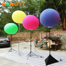 Custom exhibition balloon stand inflatable tripod ball led lighting outdoor advertising balloon