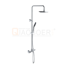 Sanitary ware brass chrome rain shower set thermostatic