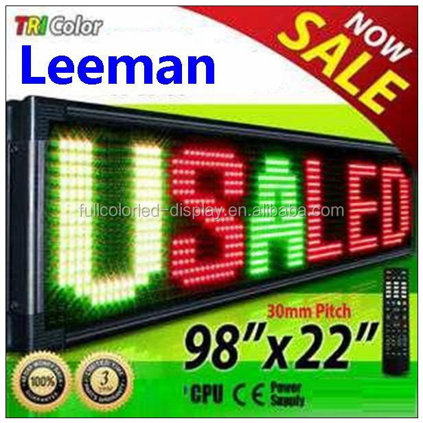 P10 Outdoor Programmable LED Signs Multi Language , Wireless LED Scrolling Message Display Board