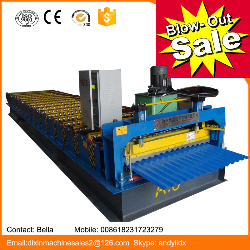 China manufacture color metal corrugated panel roll forming machine for sales